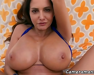 Beauty pov drilled in her taut arse