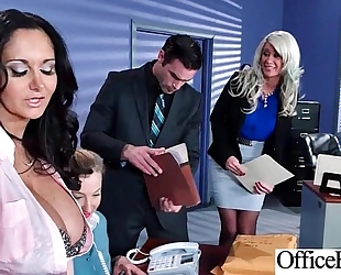 Office white wife (ava addams & riley jenner) with large round melon wobblers like sex mov-09