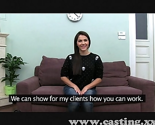 Casting hawt italian chick in interview