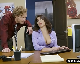 Big wazoo valentina nappi office footjob oral-service and fuck