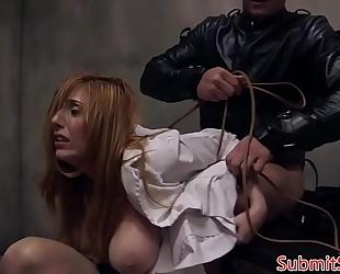Bdsm sub tit bonks doms schlong in advance of anal sex