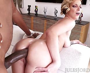 Jules jordan - jada stevens large wazoo female-dominant is back for greater quantity bbc in her legendary butt
