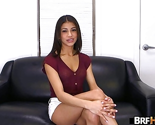 Teen latin babe veronica rodriguez 1st time in front of the camera getting 1.1