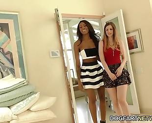 Interracial lesbo act with stella cox and nadia jay