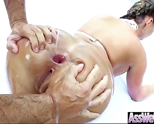 Hard style anal sex with arse oiled large booty amateur wife (phoenix marie) movie-25
