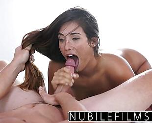Eva lovia takes bosses schlong and cum