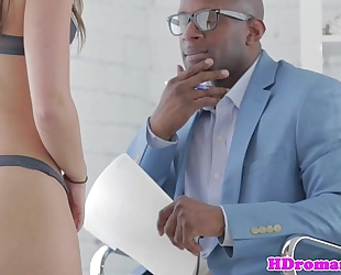 Anal loving model acquires bbc facial