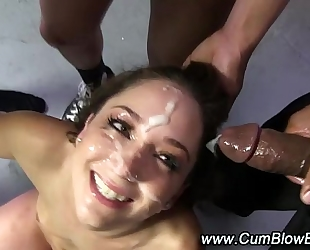 Interracial dark 10-Pounder wench cum facual cumshots