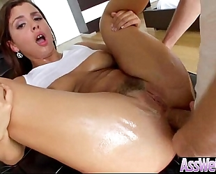 Amazing anal sex on web camera with large wazoo oiled amateur wife (keisha grey) video-16