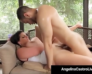 Cubas porn queen angelina castro acquires a large dark knob & cum