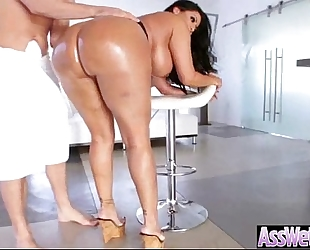 Anal unfathomable hard nailed a large curvy biggest butt oiled BBC slut (kiara mia) video-17