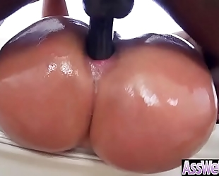 (assh lee) superb white wife with round booty receive anal gangbang clip-13