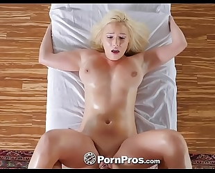 Pornpros breasty golden-haired kylie page raunchy massage and fuck