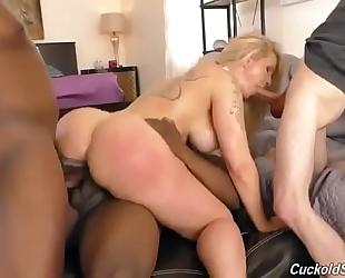 Interracial anal bang with ryan conner and a cuckold