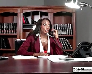 Oily office with diamond jackson from filthy masseur-part01
