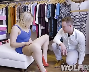 Horny saleswoman blair williams show me her fur pie when i consult prices