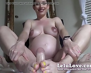 Lelu love-pov preggy footjob spunk fountain on feet