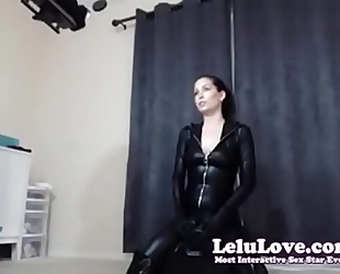 Lelu love web camera bts riding sybian in catsuit