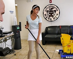 Bangbros - the recent cleaning cheating wife swallows a load!