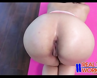 Sophia leone sexy yoga workout fuck
