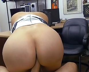 Banging large boobie brunette hair sophie leon on floor point of view