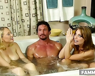 Busty stepsisters and their surprise client # britney amber, kagney linn karter and tommy gunn