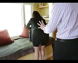 Sophie dee's bra buddies distract her boss from work!