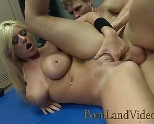 Blonde whore sophie dee gives wicked sex torture to battle loser