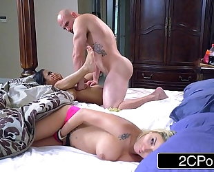 Stepsibling slumber party - blond bimbo marsha may & ebon cutie nicole bexley