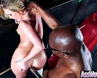 Oiled cheating wife (aj applegate) with large round a-hole like anal sex clip-02