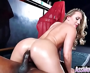 Big ass slutwife (aj applegate) receive oiled and unfathomable anal nailed on webcam video-03