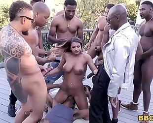 Brooklyn follow interracial fuckfest