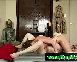 Sweet lesbian babes at nuru massage - ash hollywood & brooklyn follow