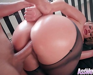 Anal sex tape with hawt oiled hawt biggest booty horny white wife (brooklyn chase) video-12