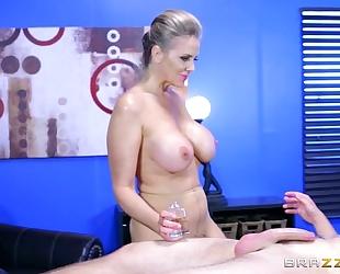 : brazzers - alena croft takes a pecker in her wazoo