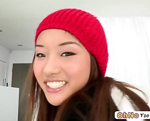 Monster dong screws legal age teenager pornstar ana li and that babe acquires awarded with facial