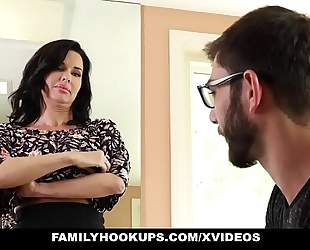 Familyhookups - hawt milf teaches stepson how to fuck