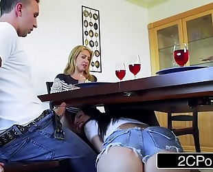 Married stud has trouble turning down aidra fox and her incredible pointer sisters