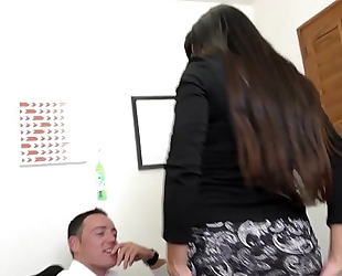 Milf boss mercedes uses her hot arse to entice employee hd