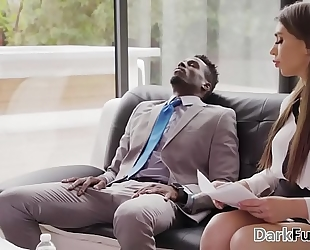 Stressed out colleagues have interracial anal sex - joseline kelly