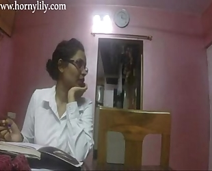 Indian aunty sex lustful lily in office hd