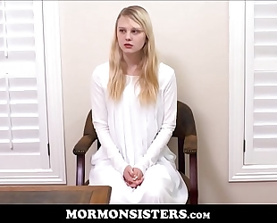 Blonde mormon legal age teenager sister lily rader punished by brother steele