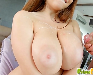 Primecups brunette hair shows off her curves whilst fucking marina visconti