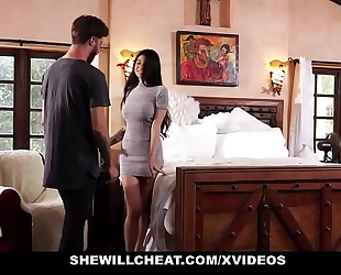 Shewillcheat - unhappy hotwife copulates her boytoy in front of spouse