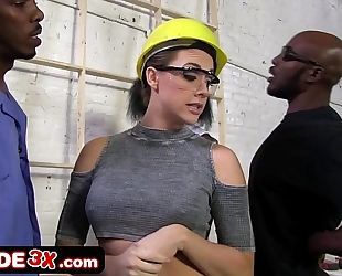 Big tit chanel preston coercive into coarse interracial group sex