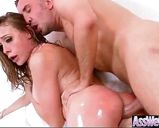 Horny dirty slut wife (chanel preston) with large gazoo receive oiled and anal sex movie-05