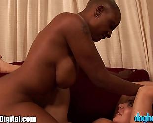 Doghouse interracial lesbo sex