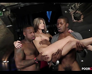 Cuck witness his girl gina gerson banging 2 bbcs