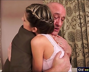 Teen doris ivy seduces her mature stepdad
