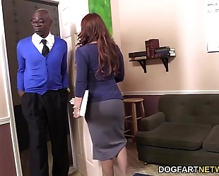 Janet mason acquires drilled by 2 sexually excited dark men